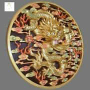 Wall Dragon Antique Wooden Craft Over 100 Hours Quality Unsigned Masterpiece