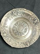 Late 1800and039s Handcrafted Silver Bowl With 5 Half Thalers