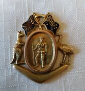 Wwi Australian Sweetheart Brooch Antique 9 Carat Gold Willis And Sons Melbourne