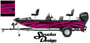 Graphic Pontoon Pink Wrap Fishing Bass Boat Abstract Curves Fish Decal Vinyl Usa