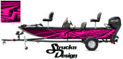 Pontoon Graphic Pink Wrap Bass Fishing Boat Distressed Abstract Fish Decal Vinyl