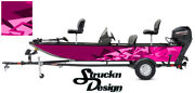 Graphic Wrap Pink Bass Boat Fishing Shapes Usa Pontoon Abstract Fish Decal Vinyl