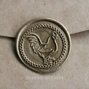 Wax Chicken Rooster Wax Seal Stamp Kit Wedding Invitation Seals Wood And Brass