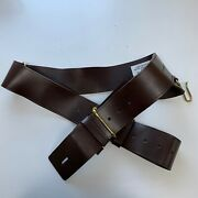 Brown Leather Army Infantry Sword Belt With Two Straps Size3 British Army