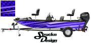 Pontoon Wrap Modern Lines Blue Fishing Abstract Graphic Bass Boat Decal Vinyl Us