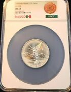 1999 Mexico Silver Libertad 2 Onza Ngc Ms 68 Extremely Scarce Low Mintage Key