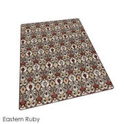 Eastern Ruby - Relic L Milliken Tufted Pinpoint Saxony 40 Oz. Area Rug