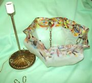 Vintage Glass Hanging Ceiling Mount Light Shade Fixture Fly Catcher Murano See