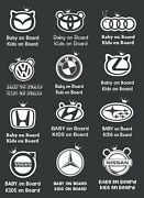 Kids And Baby On Board Car Sticker Decal. All Vehicle Types . Au Stock.