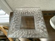 Lalique French Crystal Roses Large Square Bowl Very Lovely