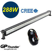 50 Inch 6000k Off Road 288w Cree Led Fog Lamp Work Light Bar For Jeep 4wd Relay