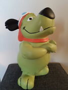 Extremely Rare Hanna Barbera Wacky Races Muttley Standing Big Figurine Statue
