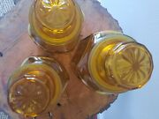 Wheaton Nj Vintage 70's Amber 3 Piece Canister Set