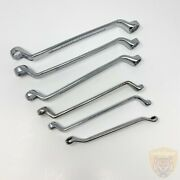 Takayo Japan And Hitop Combination Wrenches - Chrome Vanadium - Silver - Lot Of 6