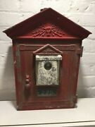 Rare 1920s Gamewell Fire Alarm Station Call Box 225 With Original Inners And Paint