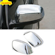 2pcs Abs Chrome Exterior Rear View Mirror Cover Trim For Jeep Compass 2017-2020