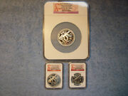 2013 P Australia Lunar Snake 3 Coin Silver Set All Ngc Pf70 Early Release Lowpop