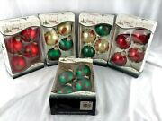 Vintage Christmas By Krebs Glass Ornaments 5 Boxes Chili Peppers Glitter 20 Ct