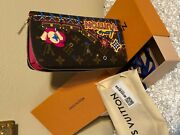 100 Auth Louis Vuitton Zippy Wallet Rose Pivoine Pink Christmas Holiday M69750