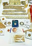 Vintage Sale Silver Auction Coin Lot. Proofs Wheats 90 Silver. 75 Coins