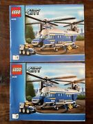 Lego City Heavy Lift Police Helicopter Instruction Manuals Only 4439 Books 1 2