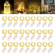 6ft 20leds Button Battery Operated Led Copper Wire String Fairy Lights Decor Lot