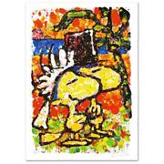 Tom Everhart Hitched Peanuts / Woodstock Lithograph W/coa