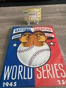 1945 World Series Chicago Cubs V. Detroit Tigers Program And Tix- 1 Of A Kind Lot