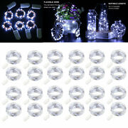 6ft Clear White Led Copper Wire String Fairy Lights Button Battery Operated Lot