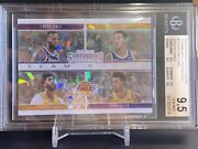 Lebron James 2019-20 Contenders Lakers Team Quads Cracked Ice 8/25 Bgs 9.5