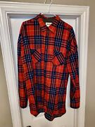 Fear Of God Purpose Tour Barneys Ny Brushed Flannel Shirt Red Plaid Xl 700+