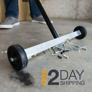 Magnetic Sweeper Garage Lawn Yard Grass Rolling Floor Nail Pickup Wheeled Push
