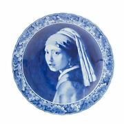 Royal Delft Plate Vermeer Girl With Pearl Earring The Original - Royaldelft