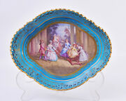 Antique Late 19th Century Sevres Style Dish - C.1880