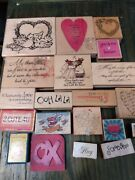 Lot Of 20 Love Valentines Day Wood Mounted Rubber Stamp Scrapbooking Card Making