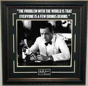 Humphrey Bogart Photo Framed With Quote And Laser Signature