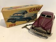 Vintage Schuco Gama German Tin 100 D.r.p.a Car Toy 1947 Buick Super - With Key