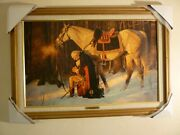 """""""prayer At Valley Forge"""" Arnold Friberg Canvas 17 X 27 Mint Condition"""