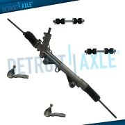 Kit - Power Steering Rack And Pinion + 2 Outer Tie Rod + 2 Stabilizer Bar Link