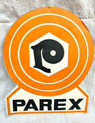 Rare Vintage Parex Double Sided Advertising Tin Store Sign Board Collectible