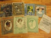 Lot Antique Vintage Sheet Music Collectibles 1896 1906 1930s 1940s 1950s Piano