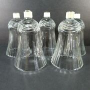 5 Votive Cups Peg Glass Candle Drape Pattern Home Interior Homco New Grippers