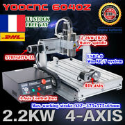 【fra】4-axis 6040 Usb Mach3 2200w 2.2kw Cnc Wood Router Engrave Mill Machine 220v