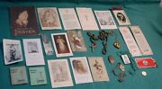 Vintage Lot Catholic Holy / Prayer Cards Rosary Medals Book Mark Luggage Tag +