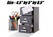 Mini Cabinet 3 Drawer File Holder Office Storage Files Organizer Business Cards