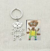 Mother Day Gift Customized Kids Drawing Keychain