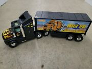 Large 26 Vintage 1990and039s Tonka Smokinand039 Semi Tractor Trailer Truck
