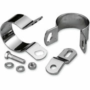 Drag Specialties Chrome Midway Exhaust Mounting Kit Fit Harley Fxr And Dyna Glide