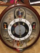 Seiko Melody Motion Wall Clock Beatles Songs Model Qxm109zrh Works Great