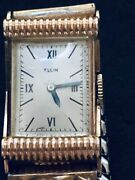 Antique Elgin Wrist Watch Gorgeous Ladies 14k Solid Rose Gold 19 Jewels Working